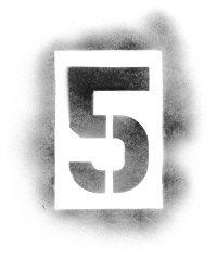 Spraypaint stencil number 5