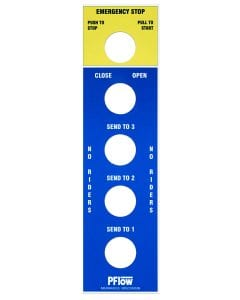emergency stop machine safety faceplate