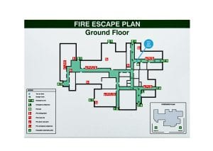 fire escape plan safety sign