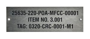 industrial identification serial number tags