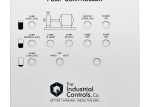 Industrial Controls Company Pump Controller machine faceplate