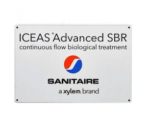 Sanitaire industrial identification plate