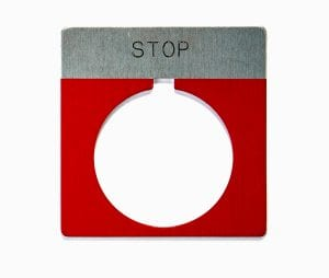 metal circular emergency stop machine safety sign