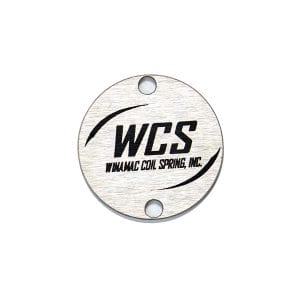 Winamac Coil Spring Aluminum industrial logo plates