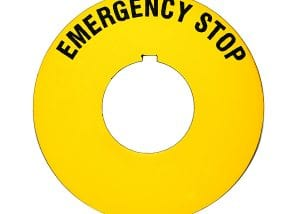Circular Emergency Stop Machine Safety Tag