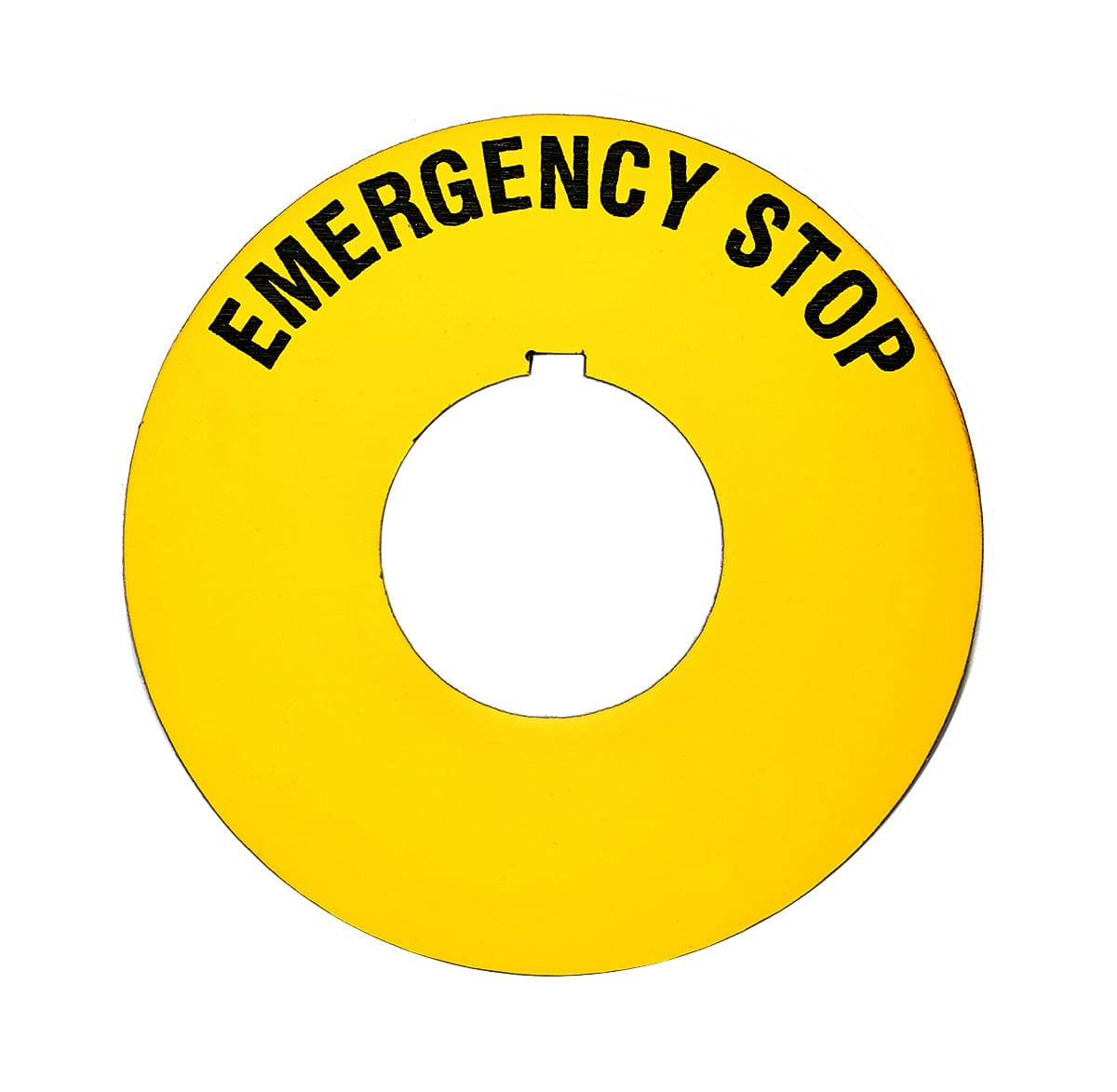 Circular Emergency Stop Machine Safety Tag