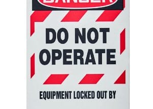 Danger Do Not Operate Machine Safety Tag