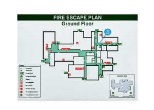 Fire Escape Plan Safety Label