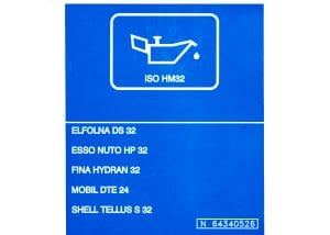 ISO-HM32 machine safety label