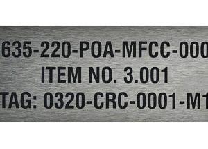 Industrial Identification steel label