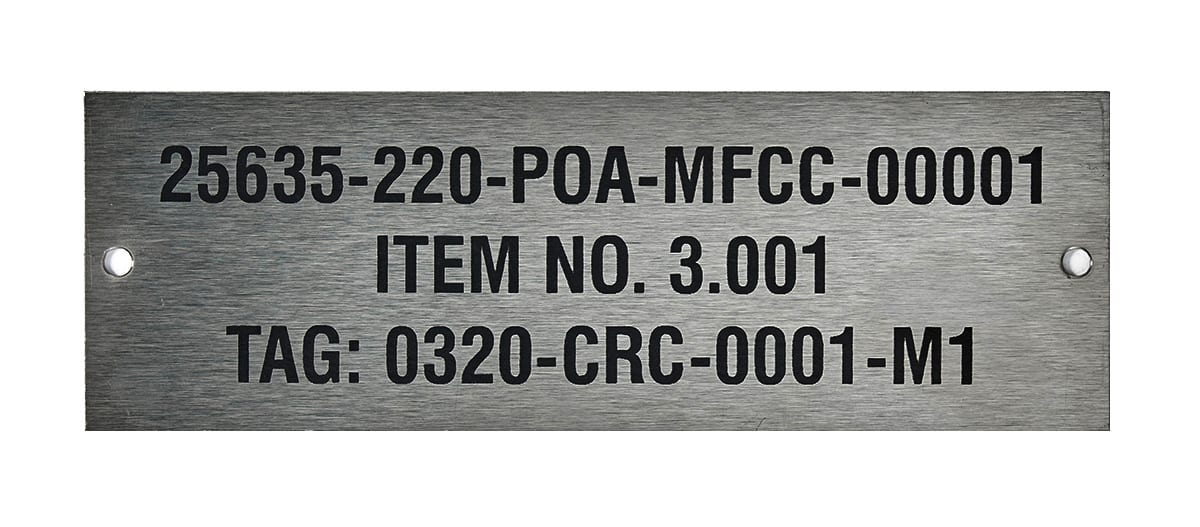 Industrial Identification steel label
