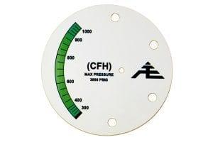 Green Pressure Gauge machine safety tag