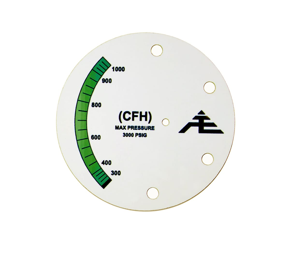 Green Pressure Gauge machine safety tag
