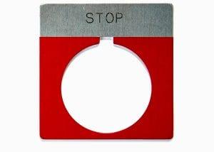 Metal Stop Red Circle Machine Safety Tag