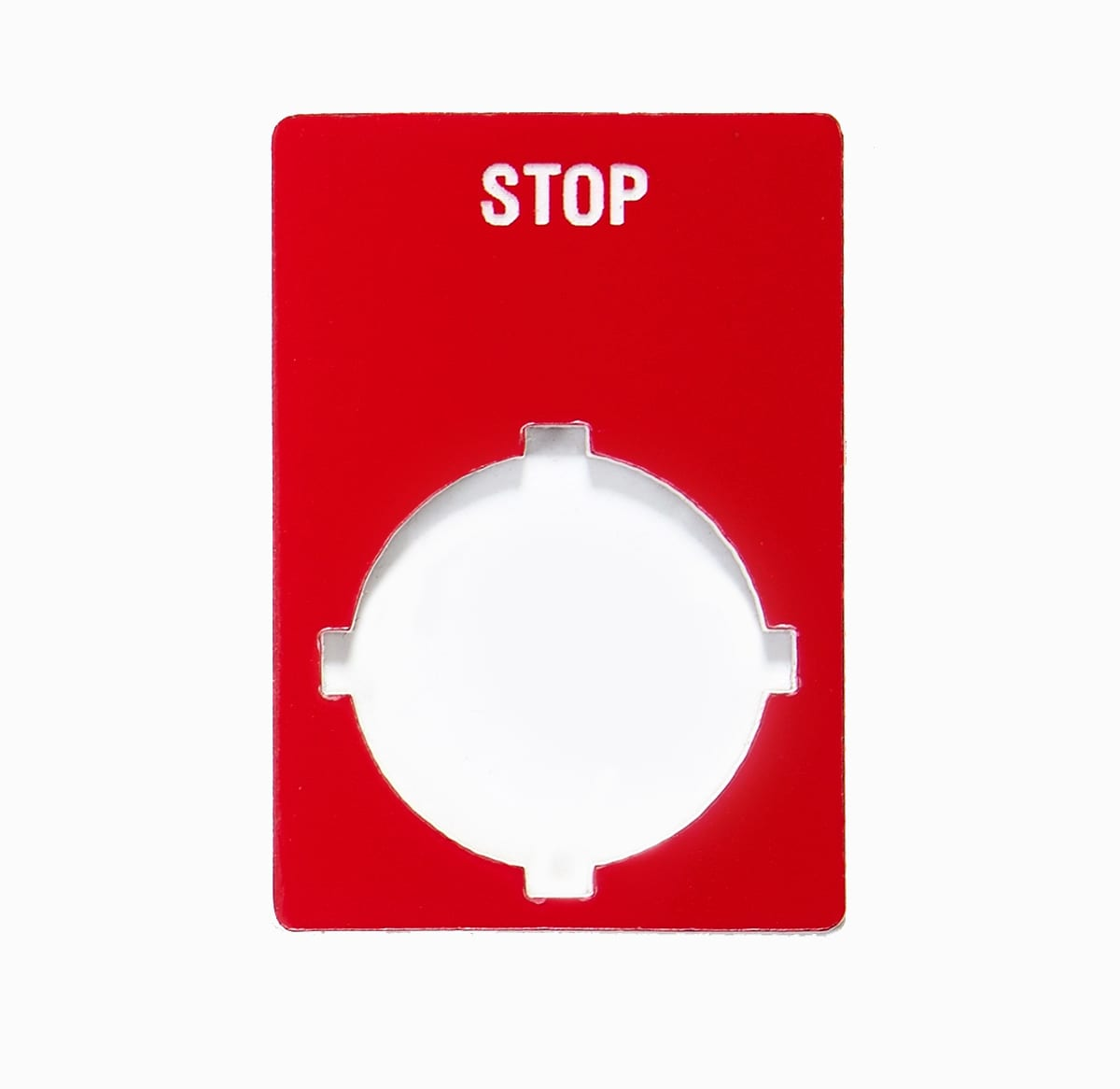 Red Stop With White Circle Machine Safety Tag