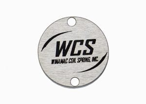 Winamac Coil Spring circular industrial identification label