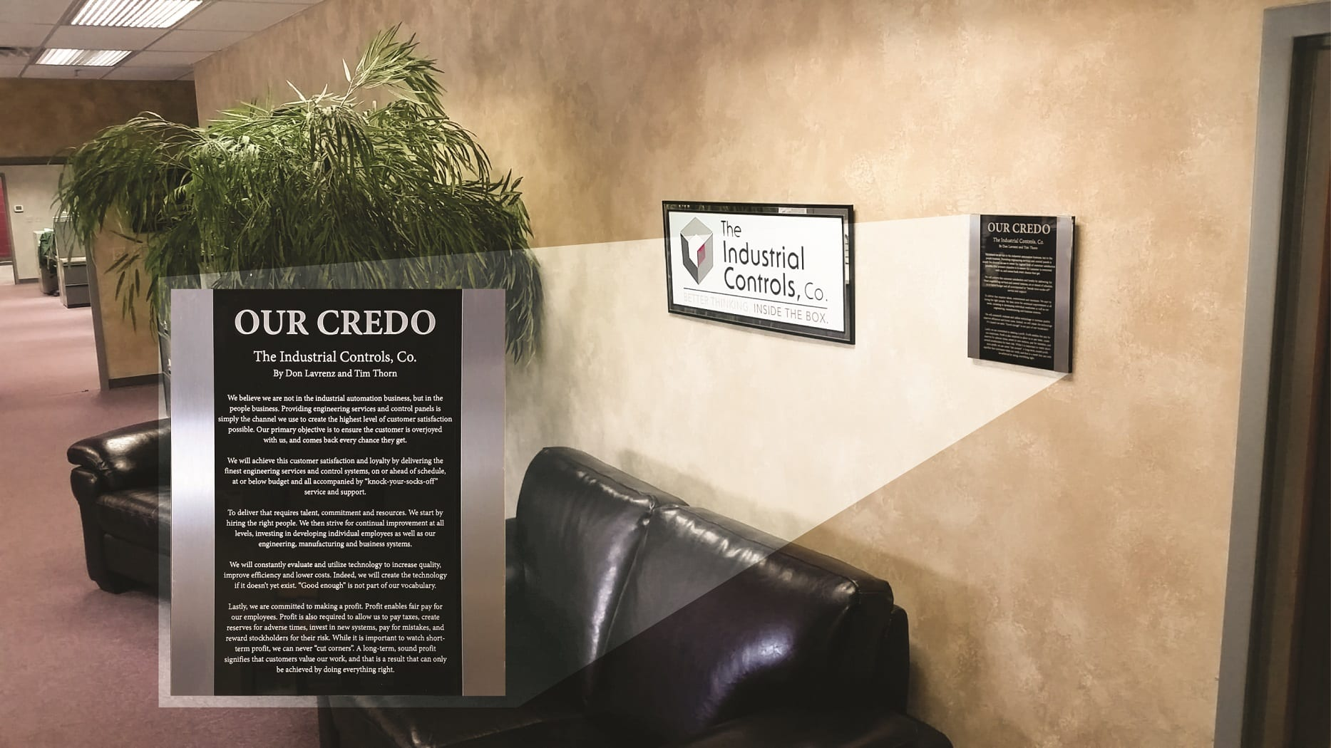 Industrial Controls Company, Inc. Company Credo Sign